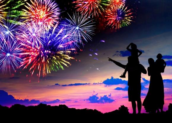 family-fireworks